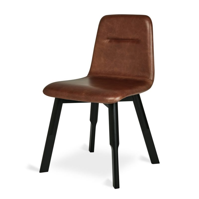 Bracket Dining Chair by Gus* Modern  *Saddle Brown Leather*