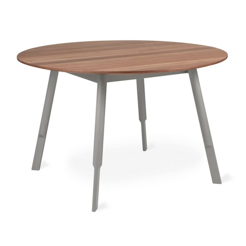 Bracket Walnut Dining Table by Gus* Modern * Round *