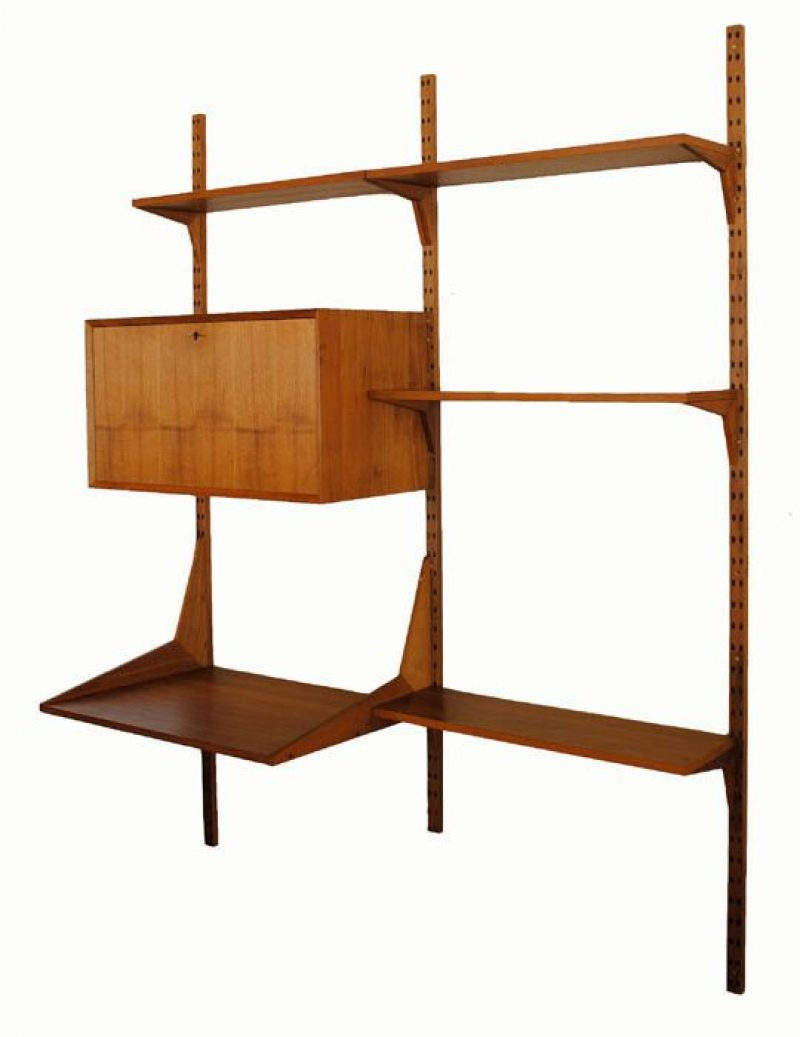 1960s Teak Cado Wall System Poul Cadovius Hoopers Modern