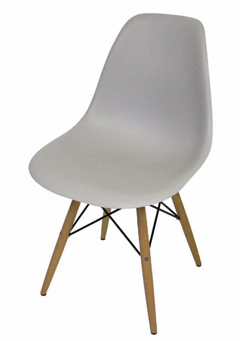 Eames Style Molded Dowel-leg Side Chairs