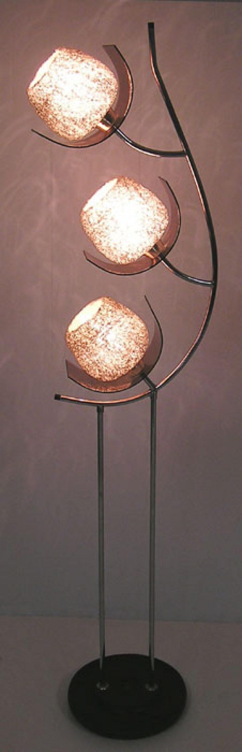 1960s Mid Century Modern Chrome Lucite Floor Lamp Hoopers Modern