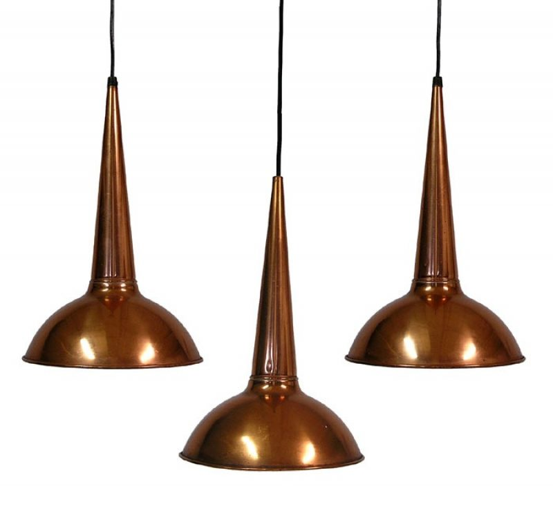1950s Fog & Morup Copper Pendant Lights *Set of 3*