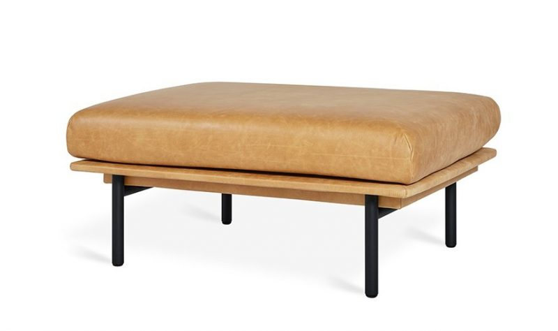 Foundry Ottoman by Gus* Modern (Leather)