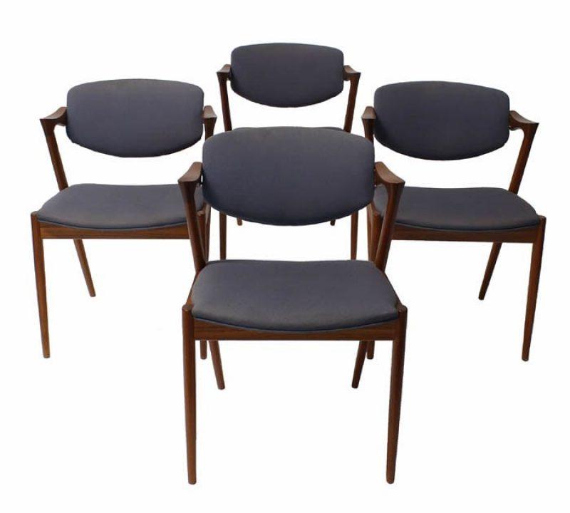 1950s Kai Kristiansen Teak Dining Chairs *Set of Four*
