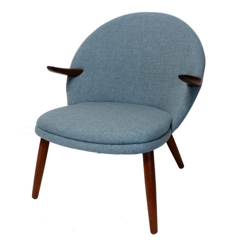 1950s Danish Kurt Olsen Easy Chair * Glostrup Mobelfabrik *