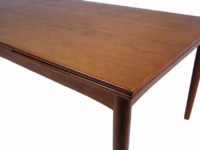 1960s large draw leaf teak dining table denmark hoopers modern