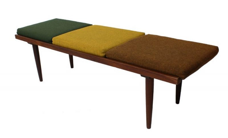 1960s Solid Teak Bench