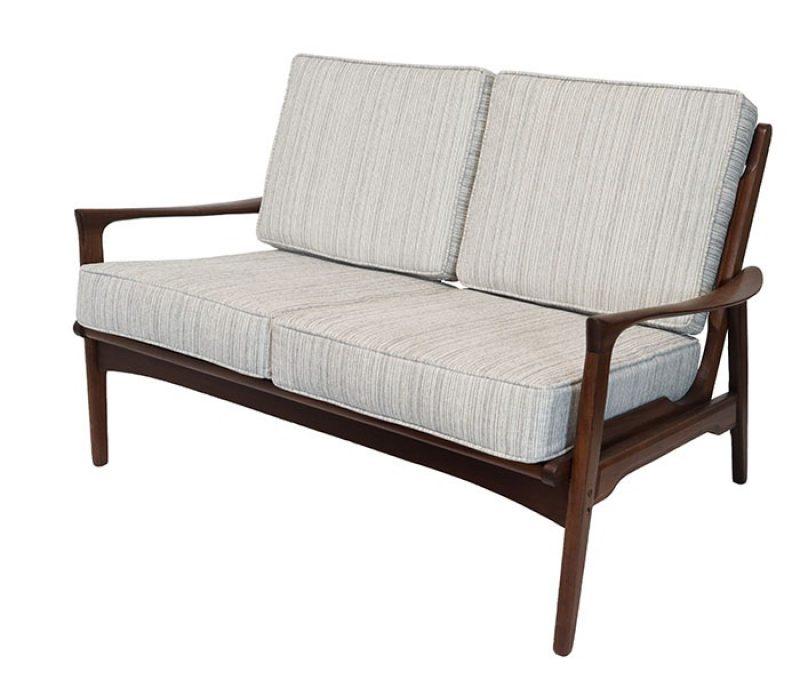 1960s Afromosia Teak Loveseat Sofa