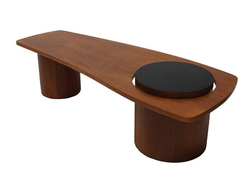 "1960s Teak Biomorphic ""Martini"" Coffee Table * RS Associates *"