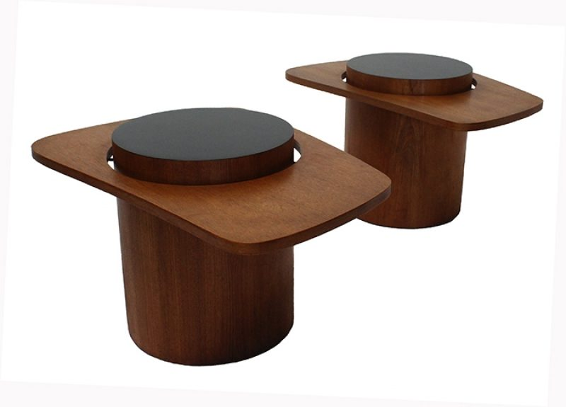 "1960s Teak Biomorphic ""Martini"" Side Tables * RS Associates *"