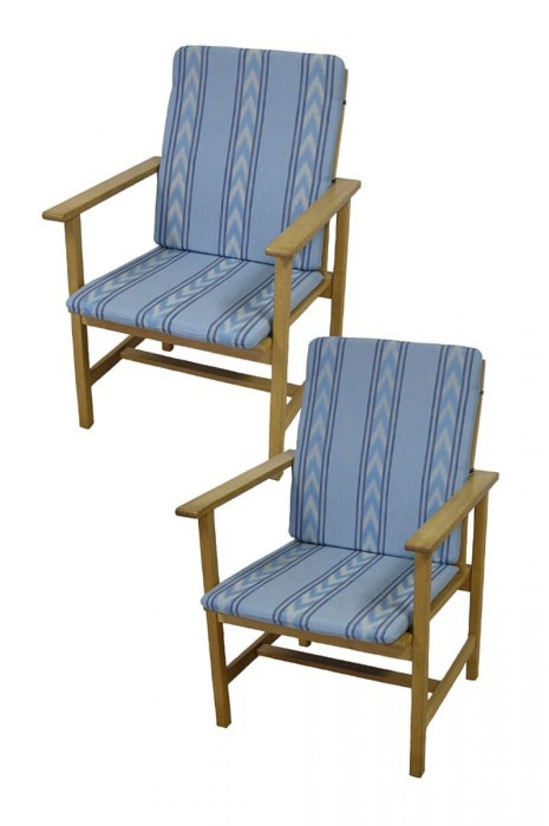 1960s Danish Oak Easy Chairs by Borge Mogensen *2 Available*