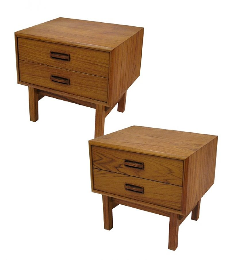 1970s Teak Night Tables *Pair*