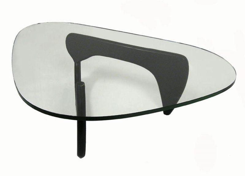 Noguchi Style Glass Coffee Table Hoopers Modern