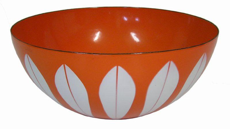 1950s Large Enamel Lotus Bowl by Cathrineholm *Norway*