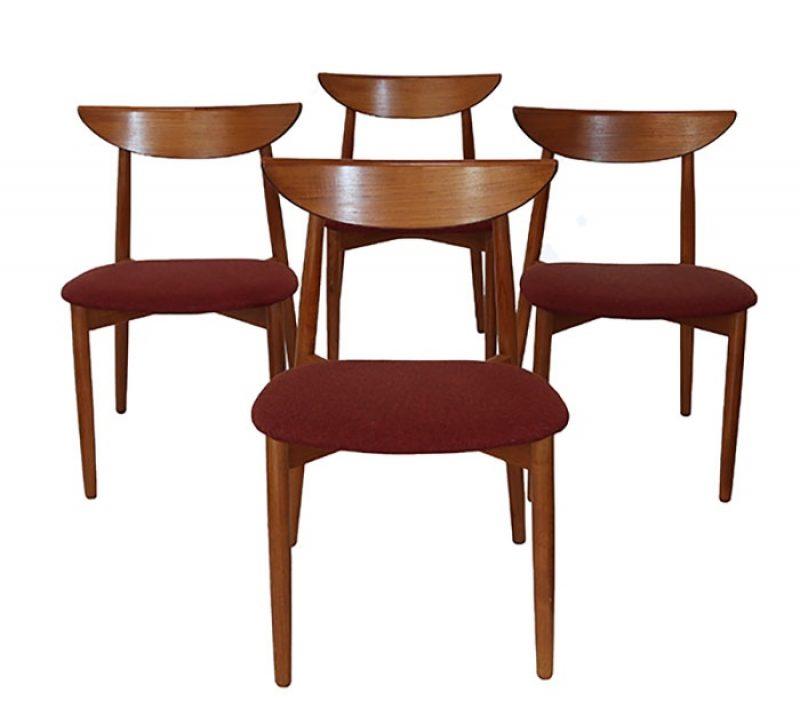 1960s Danish Teak Dining Chairs * Harry Ostergaard *