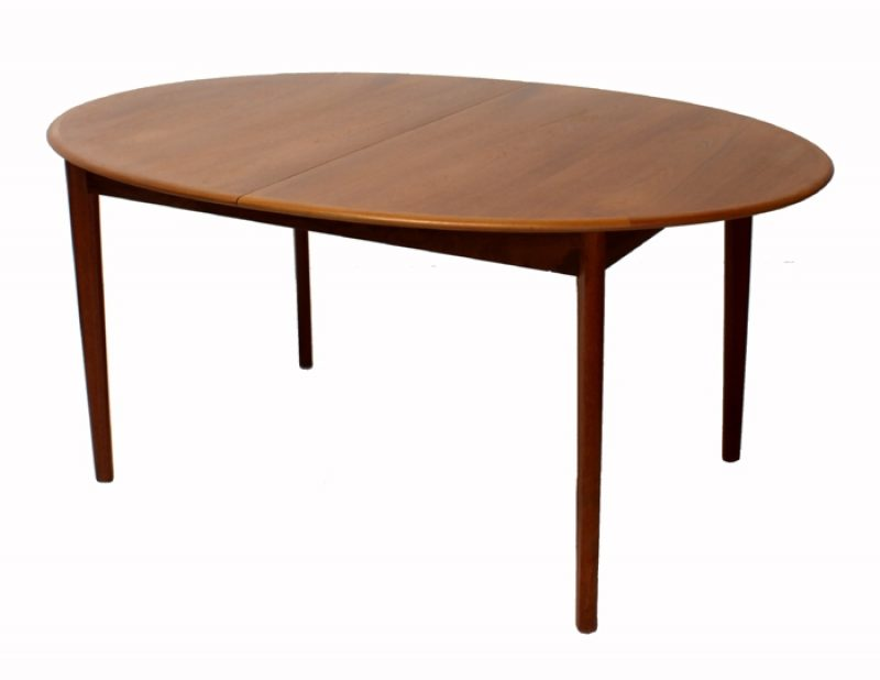 1960s Oval Teak Dining Table w/Ext.