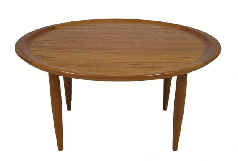 1960s Oval Teak Occasional Table Denmark Hoopers Modern
