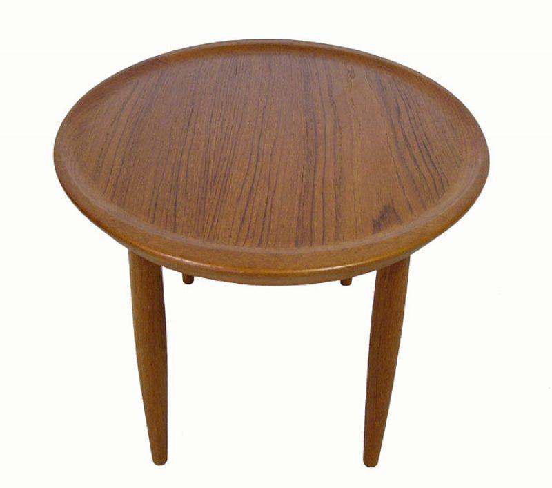Teak Oval Coffee Table: 1960s Oval Teak Occasional Table *Denmark*