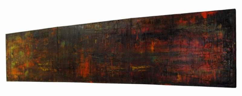 """TRYPTIC"" Original Oil on Canvas Art by Roman Rozumnyj"