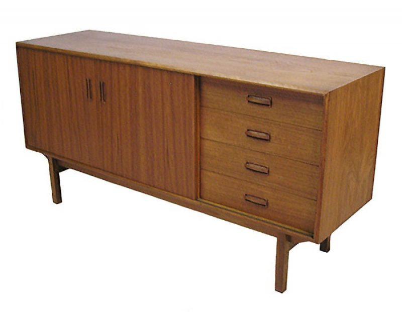 1960s Mid-Size Teak Sideboard