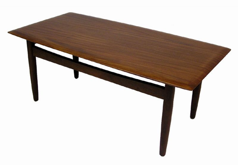 1960s Solid Teak Coffee Table by Jan Kuypers