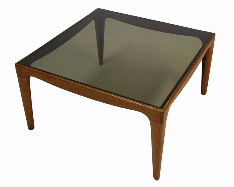 1960/70s Teak & Smoked Glass Side/Coffee Table