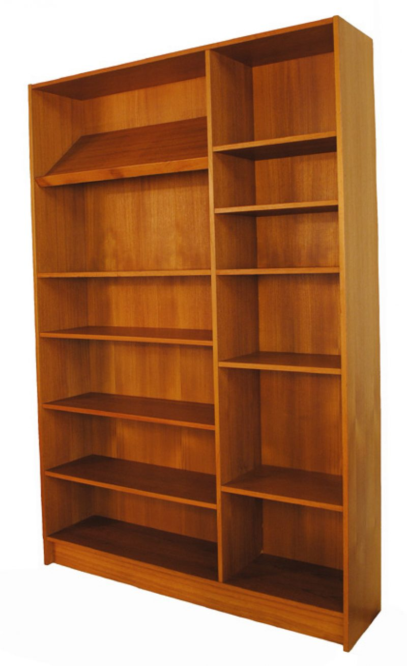 Rare 1960/70s Danish Modern 2-Section Teak Bookshelf