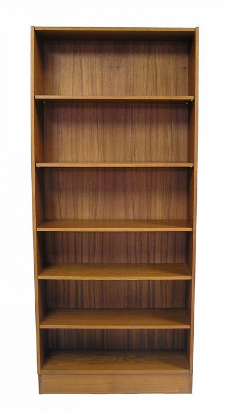 1970s Tall Teak Bookshelf Hoopers Modern