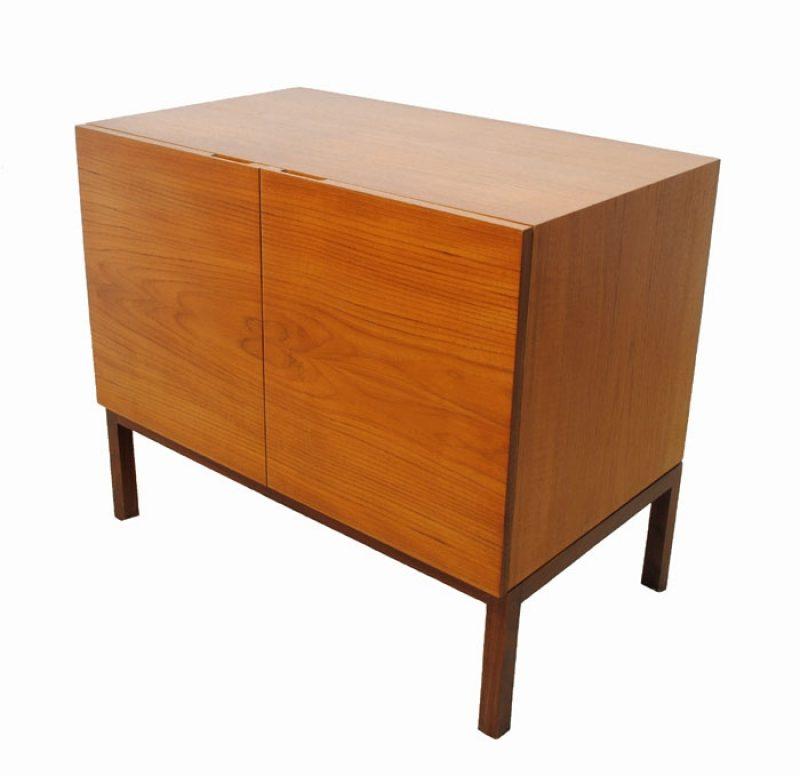 1960s Compact Teak Bar Cabinet
