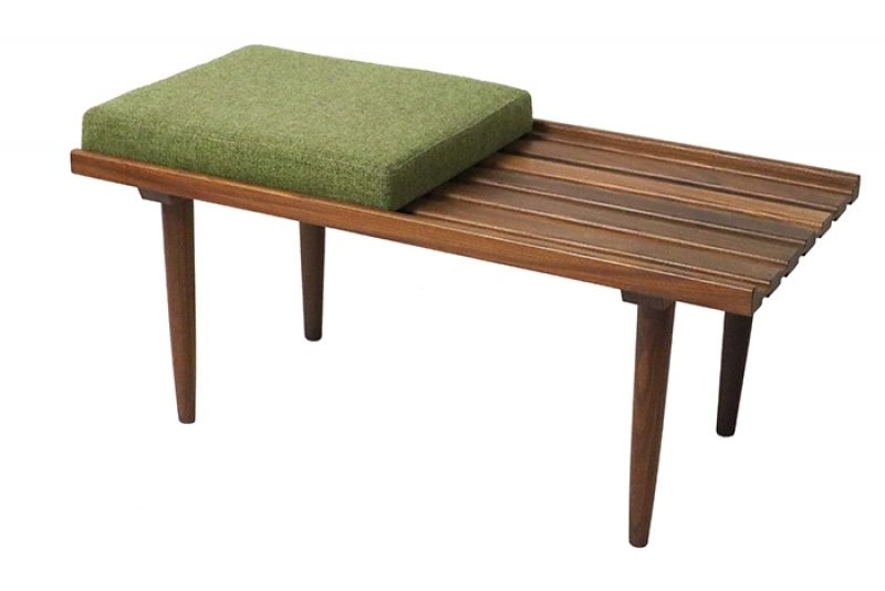 1960s Compact Teak Bench * RS Associates *