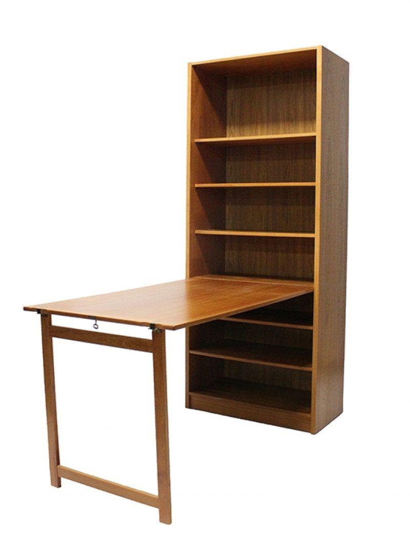 1960/70s Danish Teak Bookshelf Desk