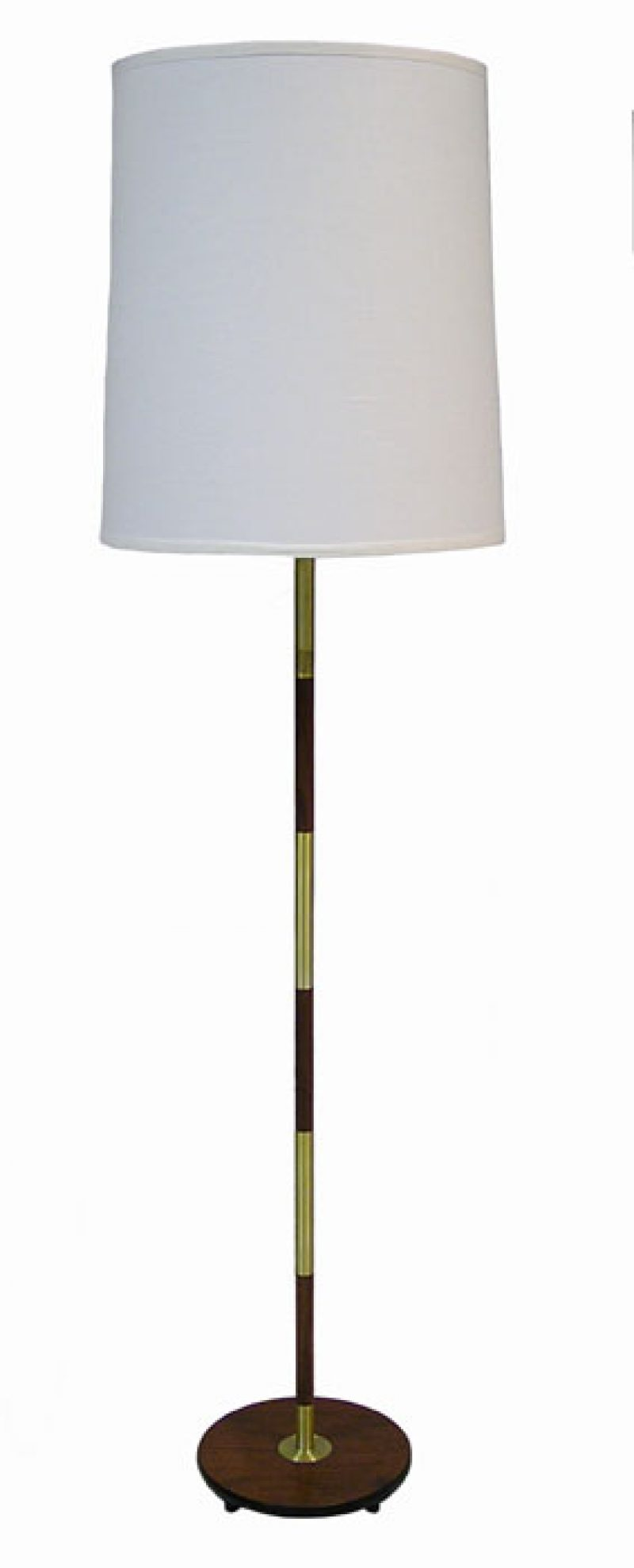 1960s Teak & Brass Floor Lamp *Denmark*