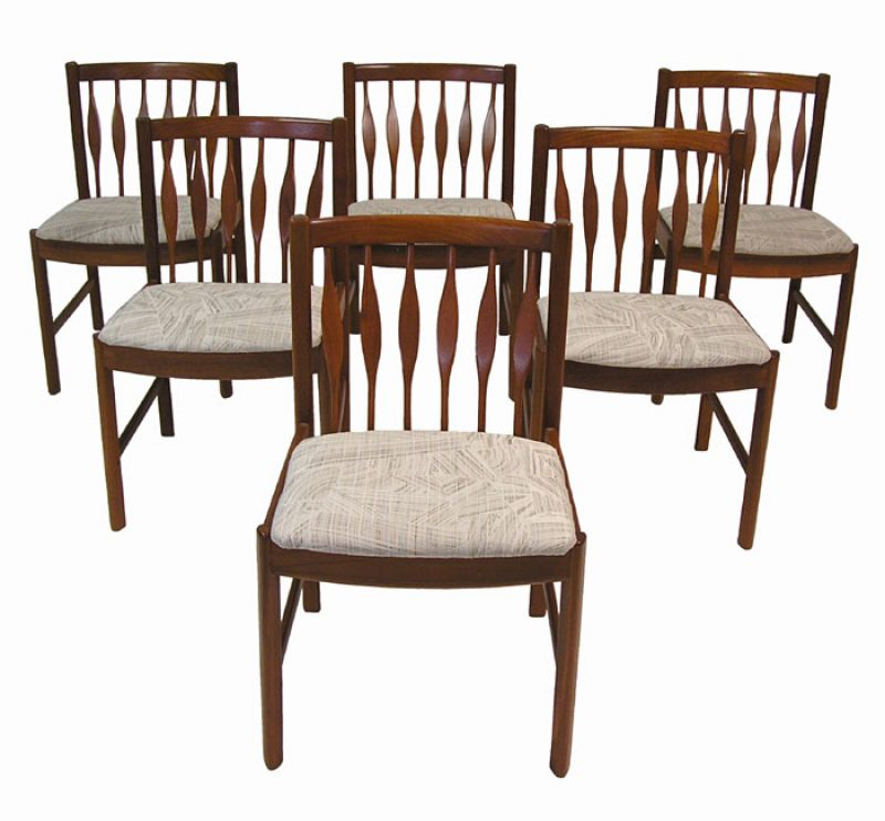 1960/70s Teak Dining Chairs *Set of 6*