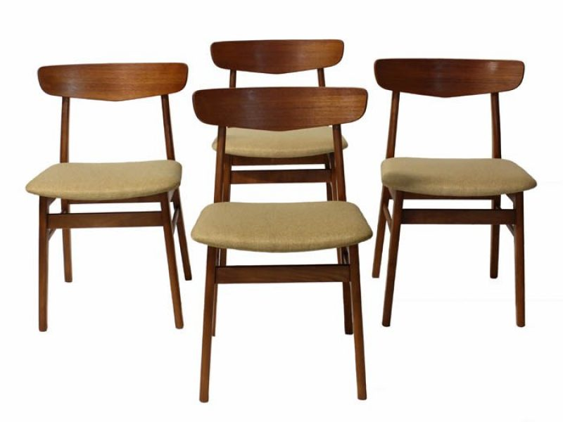 1960s Danish Teak Dining Chairs *Set of Four*