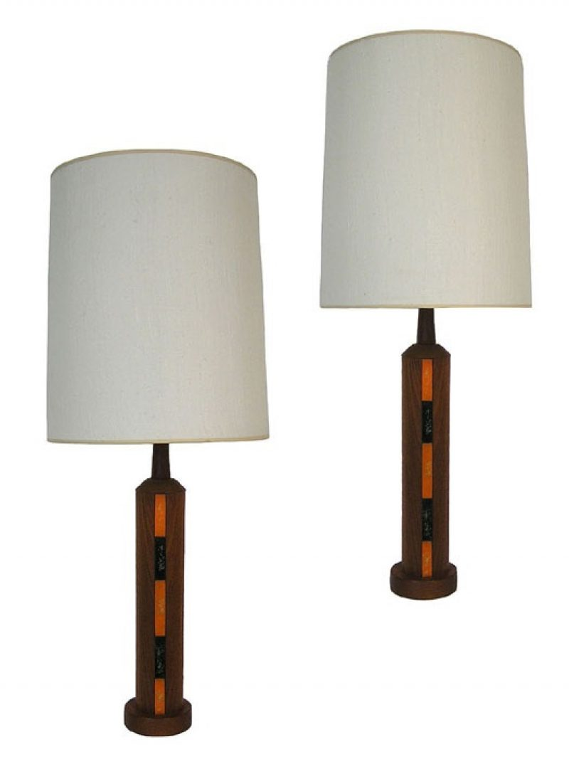 1960s Teak & Metal Danish Table Lamps  * 2 Available *