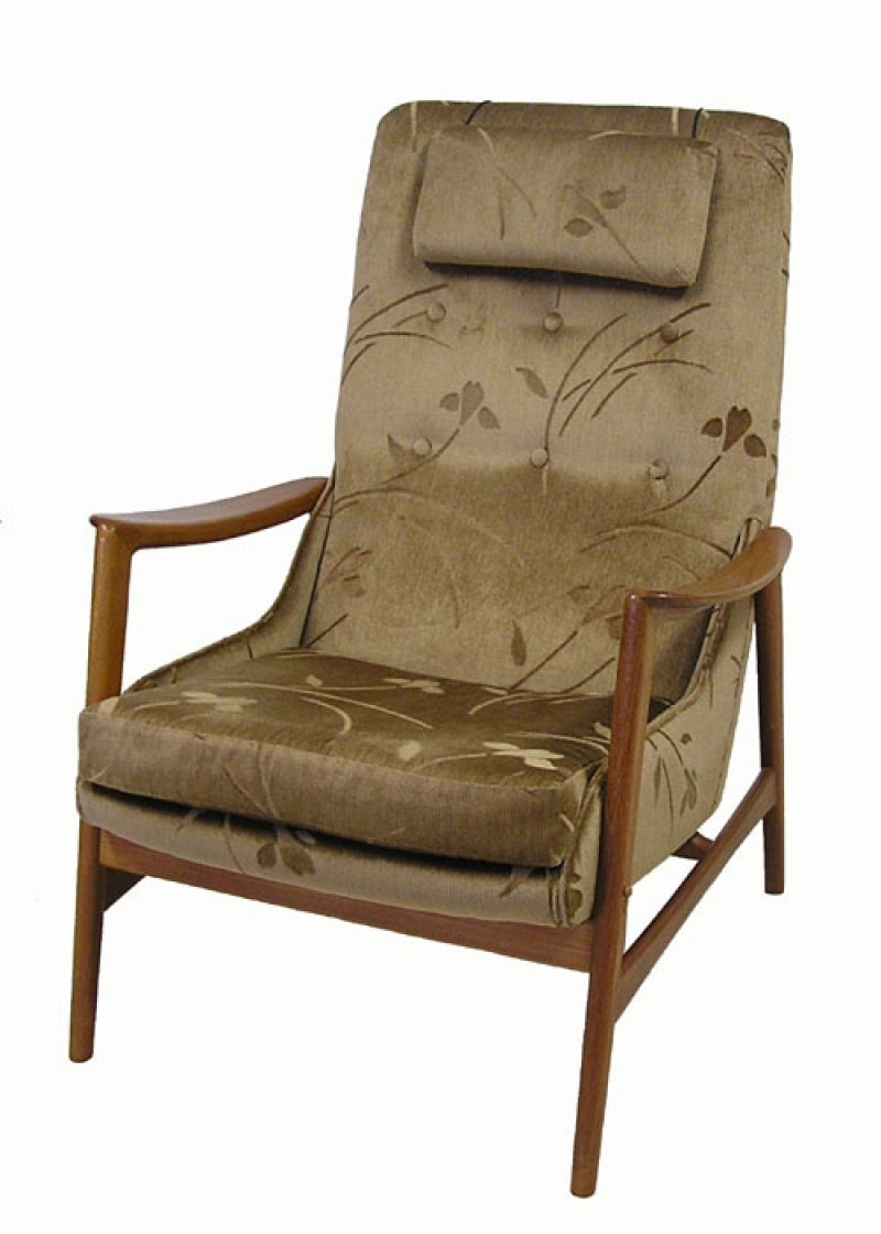 1960 70s High Back Teak Easy Chair R Huber Hoopers Modern