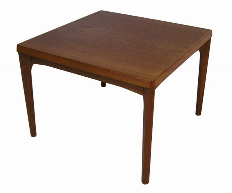 1960s Square Danish Teak Side Coffee Table * Henning Kjaernulf *