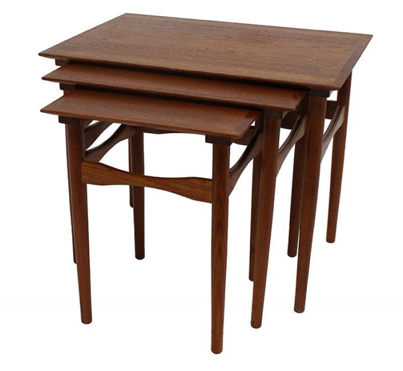 1960s Danish Teak Nesting Tables * Poul Hundevad *