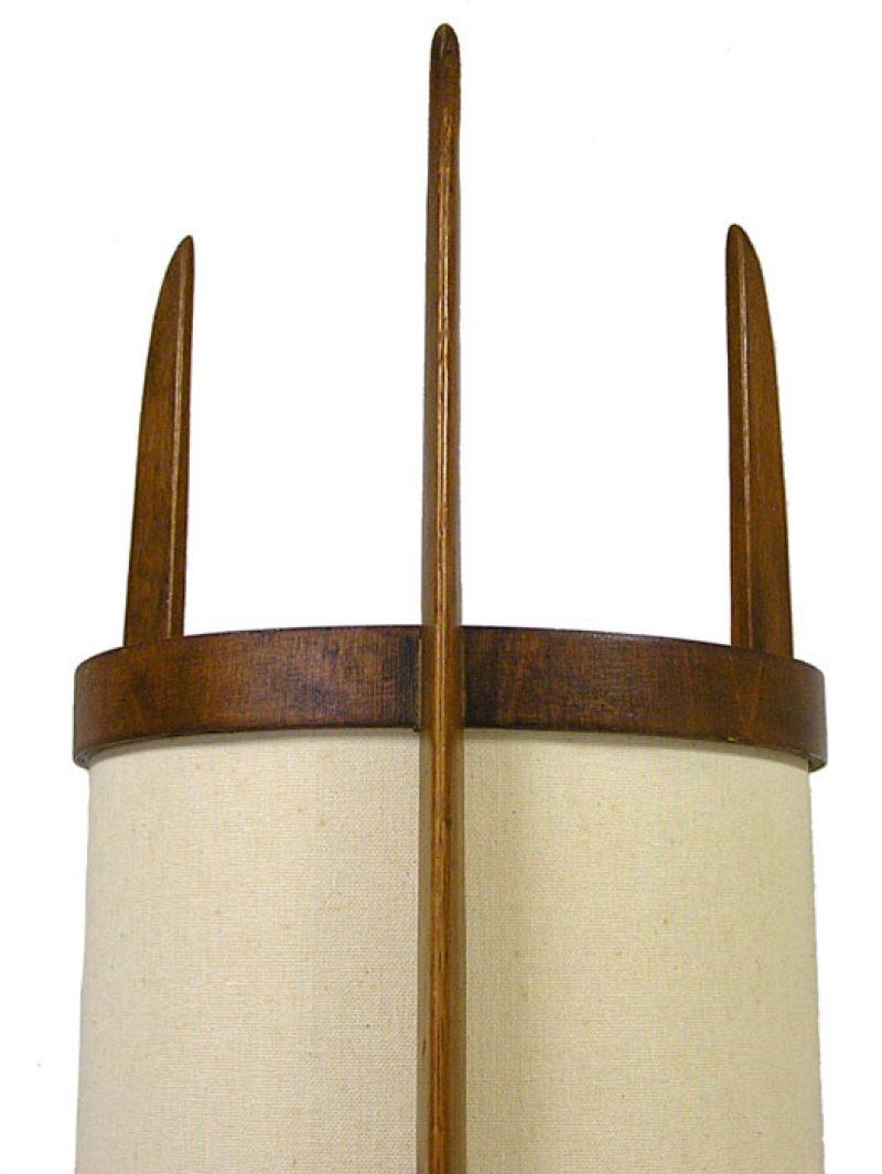 1960s Teak Rocket Floor Lamp Hoopers Modern