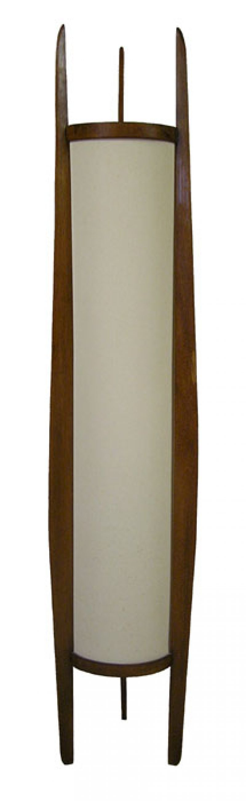 1960s Teak Rocket Floor Lamp