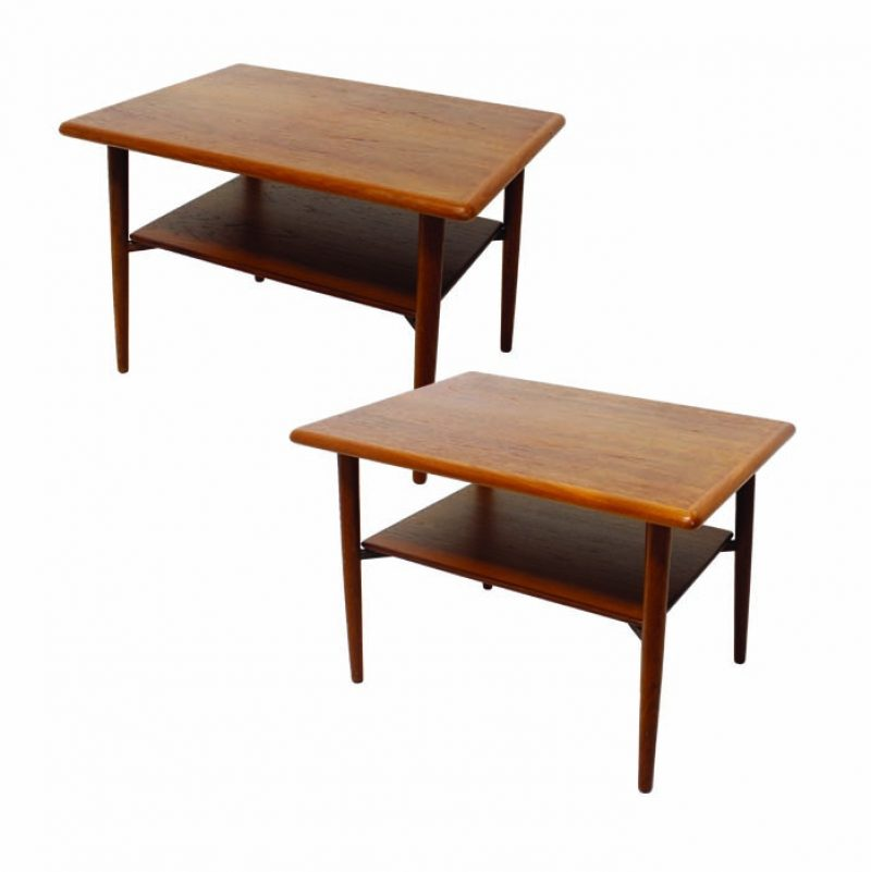 1950s Swedish Teak Side Tables * 2 Available *