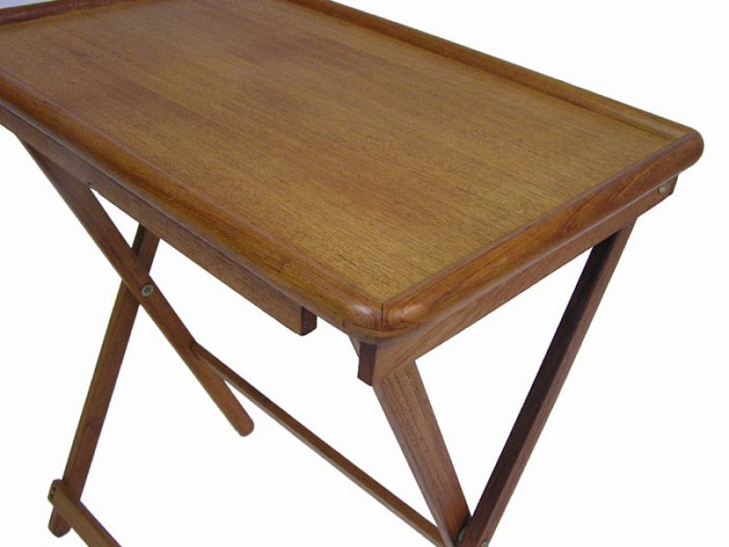 Vintage Teak Tv Tray Tables And Stand Hoopers Modern
