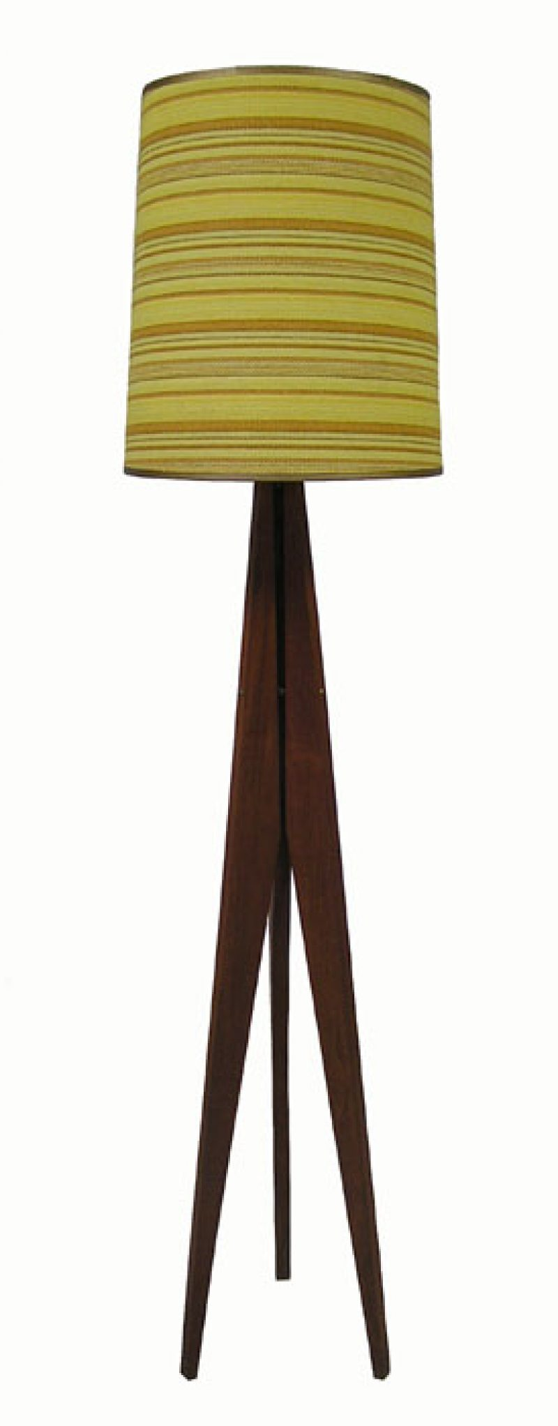 1960 70s Teak Tripod Floor Lamp Hoopers Modern