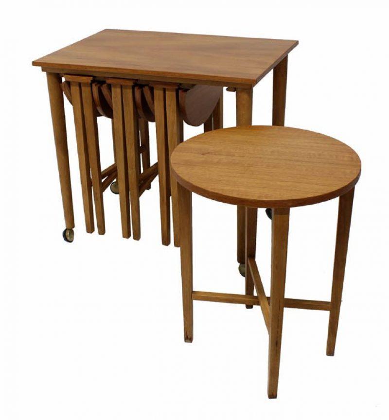 1960s Teak Nesting Table & Cart * Poul Hundevad *