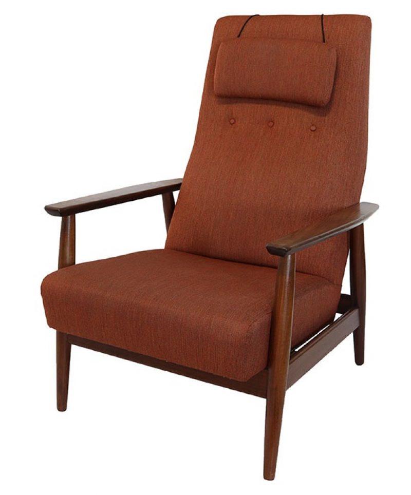 1960s Reclining Teak Lounge Chair * Westnofa *