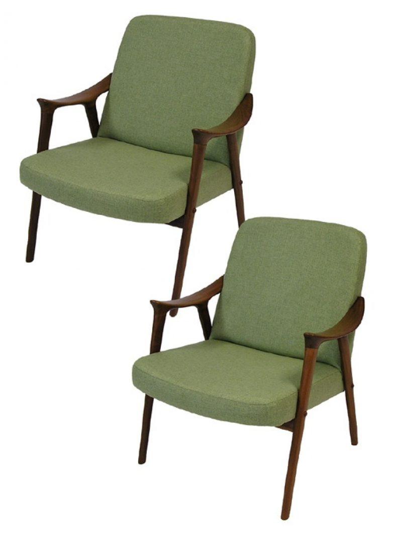 1960s Norwegian Teak Westnofa Lounge Chairs  * 2 Available *