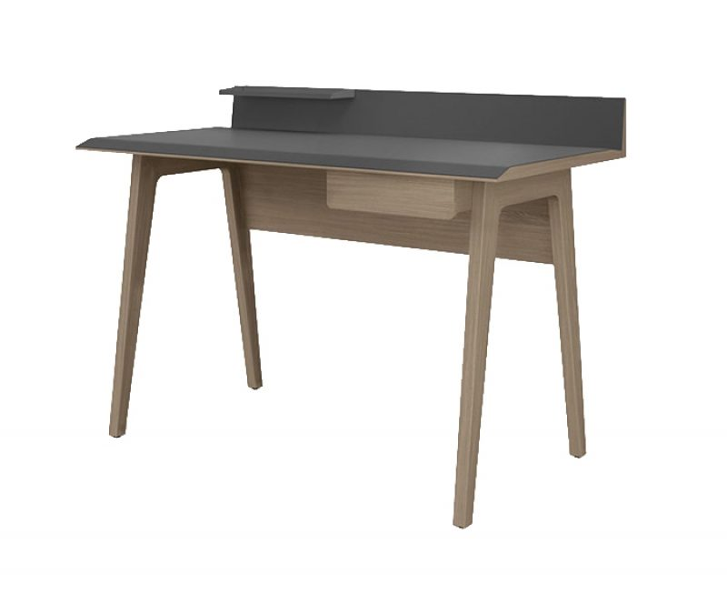 Bevel Walnut Writing Desk by BDI