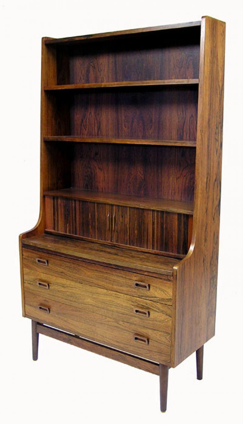 1960s Rosewood Bookshelf Desk Denmark