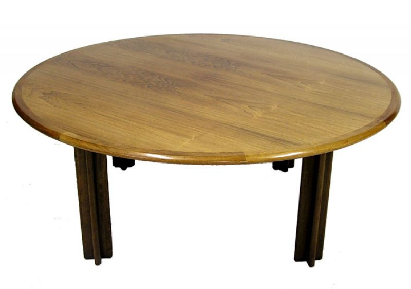 1960s Round Rosewood Coffee Table