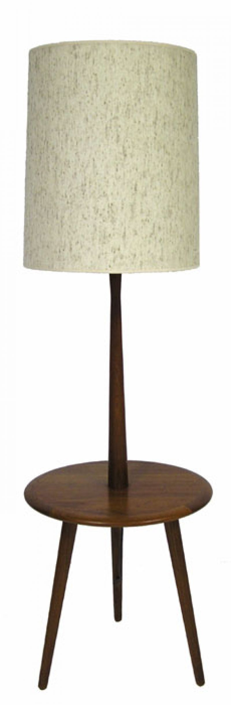1960 70s teak floor lamp w attached table hoopers modern. Black Bedroom Furniture Sets. Home Design Ideas